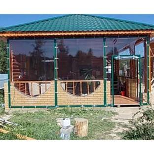 Мягкие окна ПВХ пленки для летней веранды